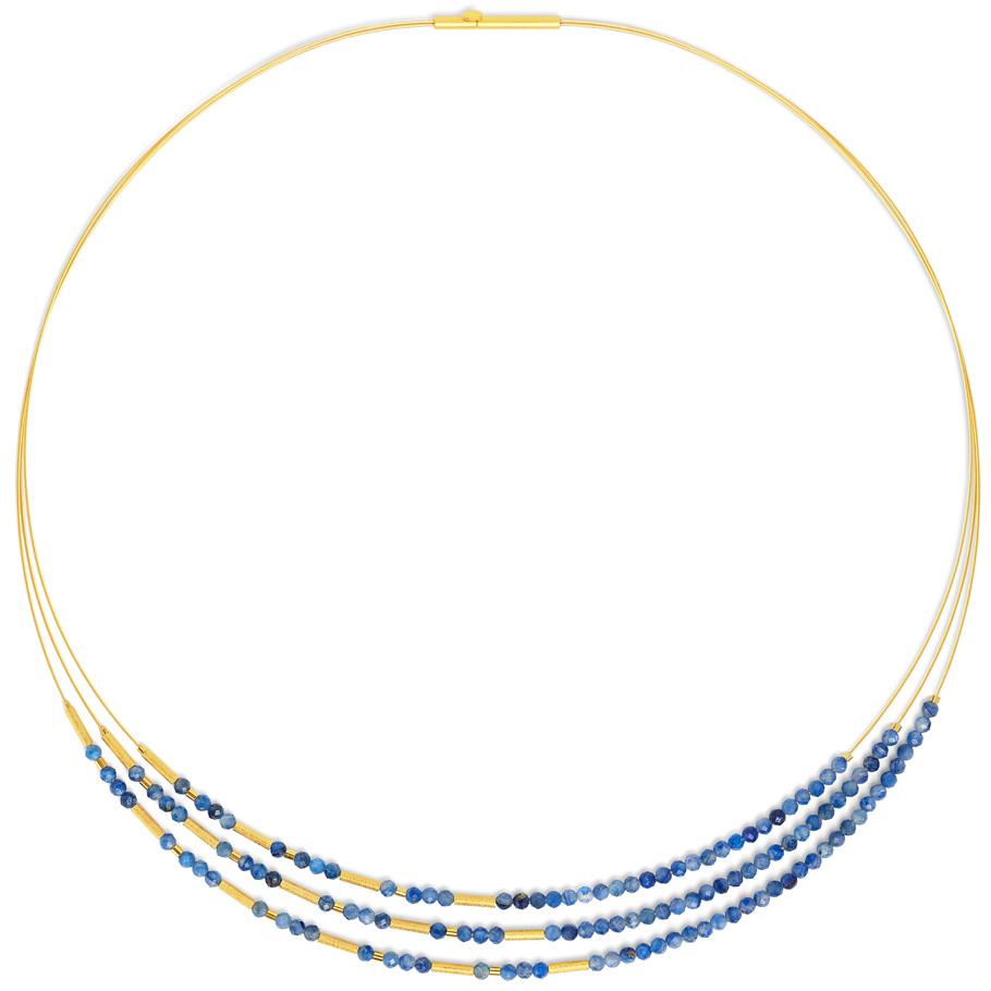 Bernd Wolf Halsreif 85233796<br>Silber 24ct goldplattiert, Kyanit