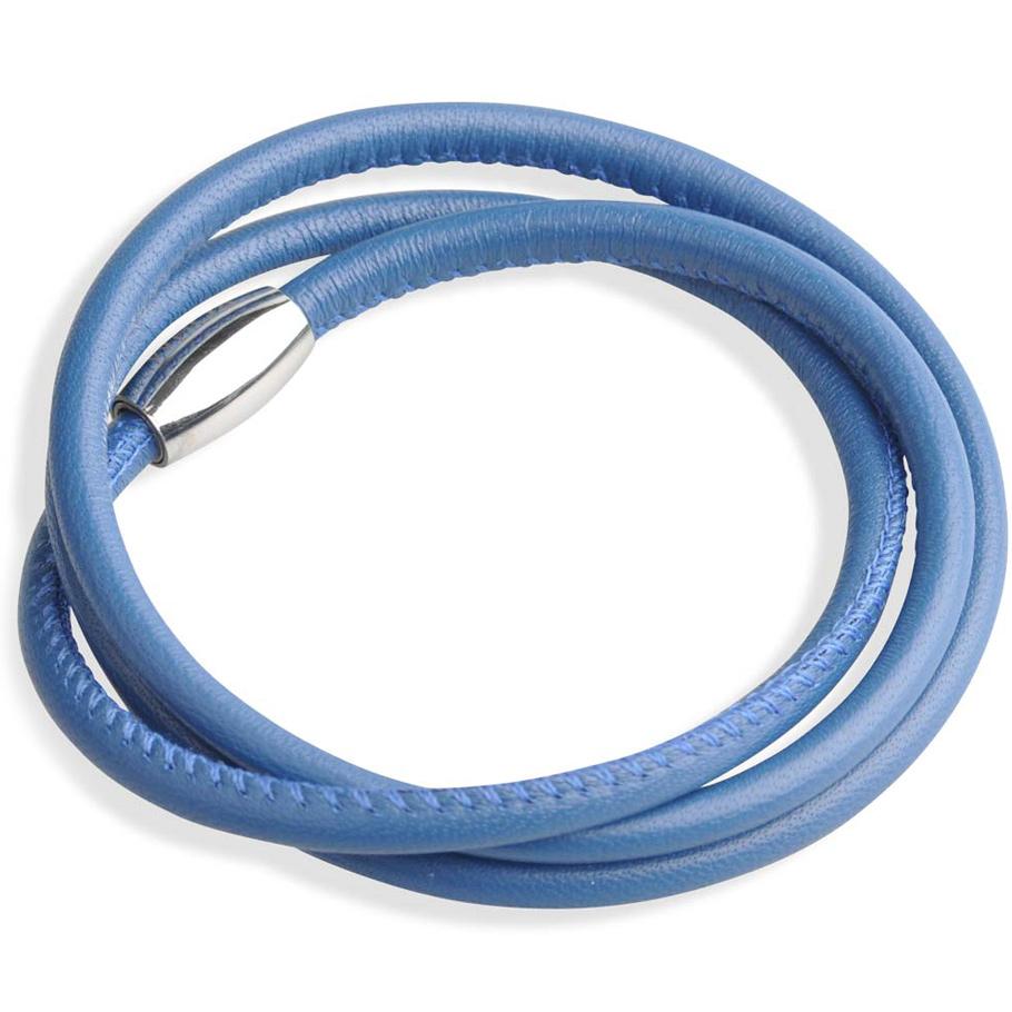 Rohm Lederarmband blau