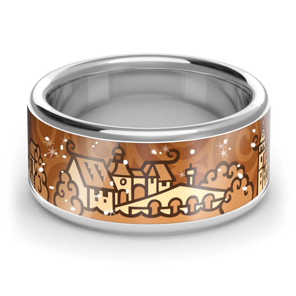 Zebra Design Ring 82210<br>925 Sterling Silber, Keramik
