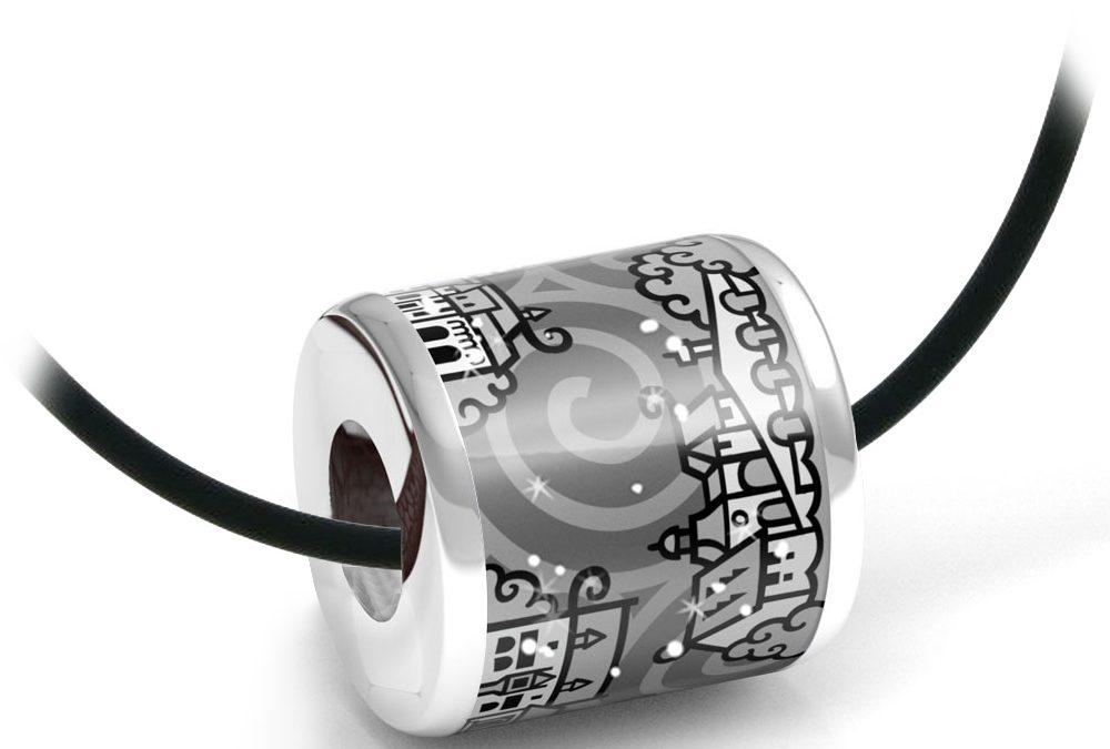Zebra Design Anhänger 82230925 Sterling Silber, Keramik