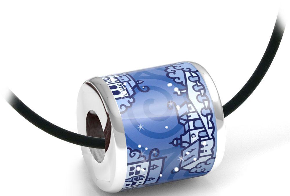 Zebra Design Anhänger 82235925 Sterling Silber, Keramik