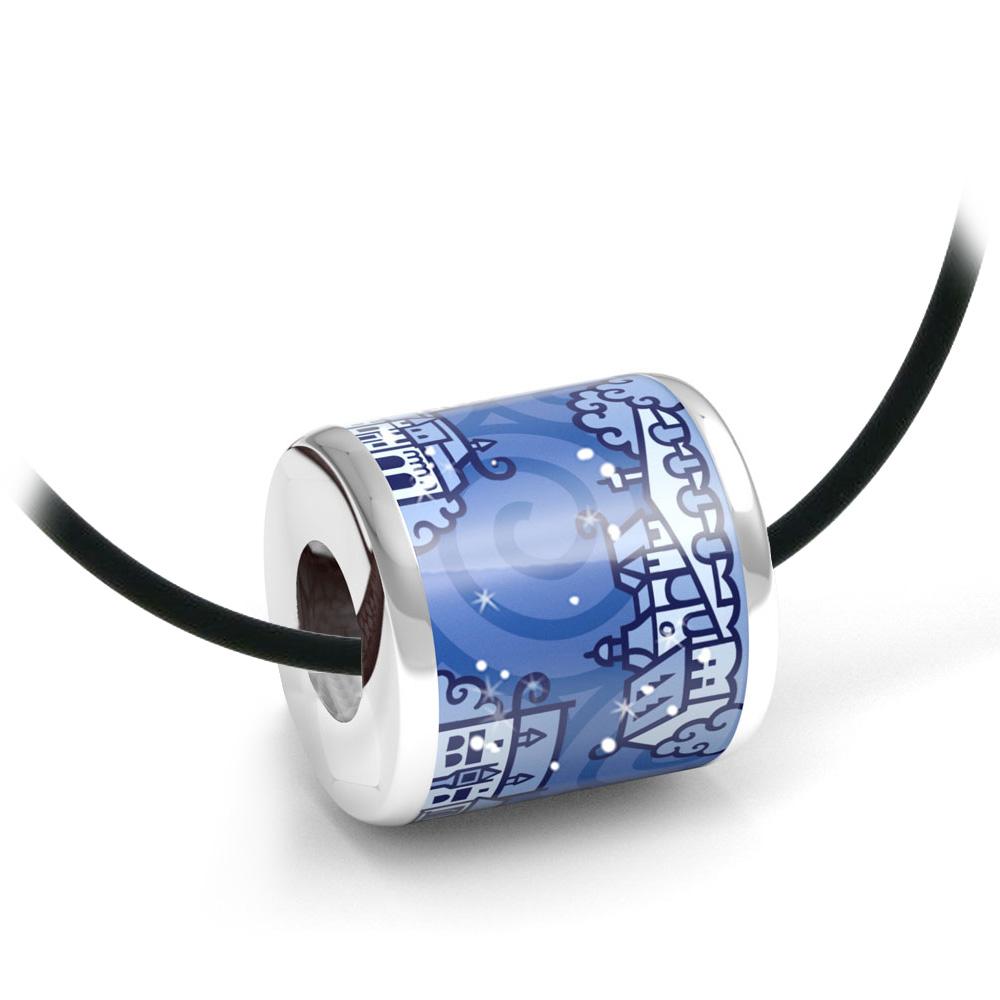 Zebra Design Anhänger 82235<br>925 Sterling Silber, Keramik