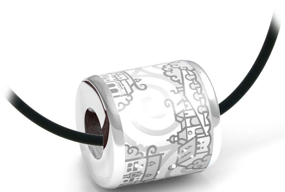 Zebra Design Anhänger 82242925 Sterling Silber, Keramik