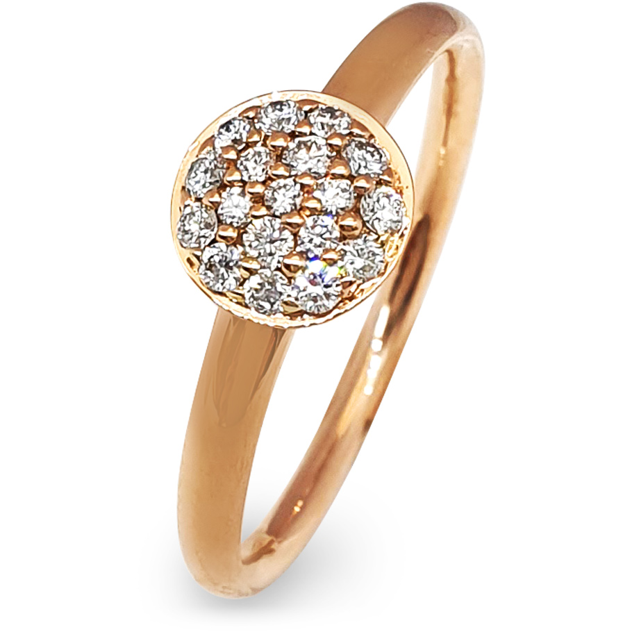 noor Ring 14877-000-R5<br>Rotgold, braune Brillanten