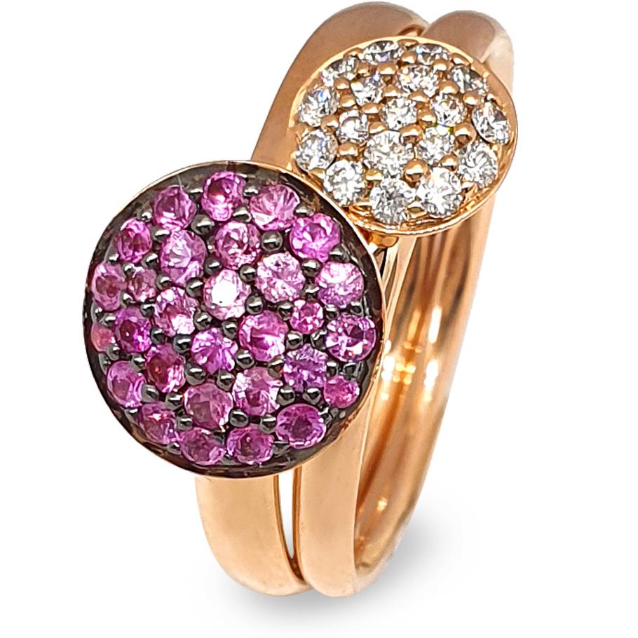 noor Ringe 14878-021-R5 14877-000-R5<br>Rotgold, Brillanten, Saphire