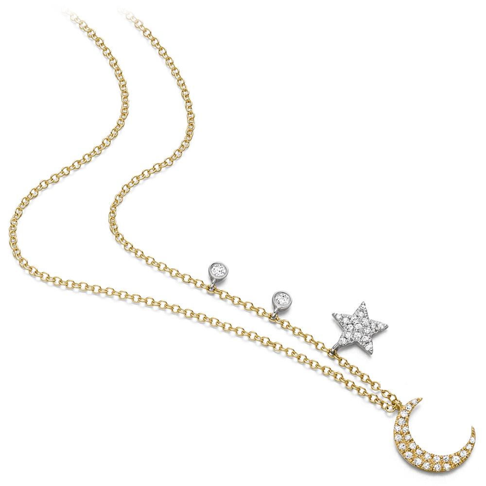 Mio Fallegro Collier mf2027<br>Gelbgold mit Diamanten