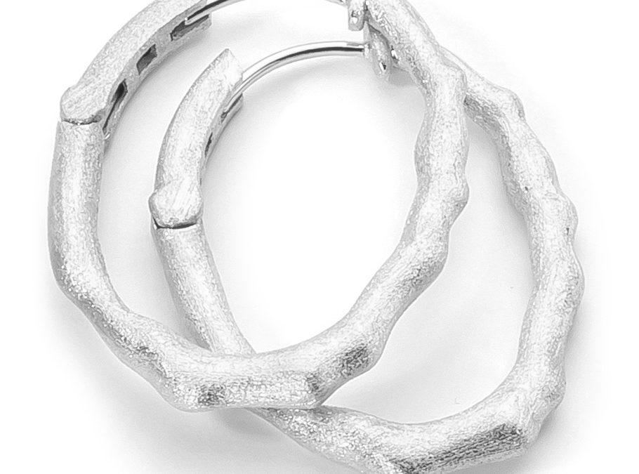 ratius Ohrschmuck 81925 Sterling Silber, matt