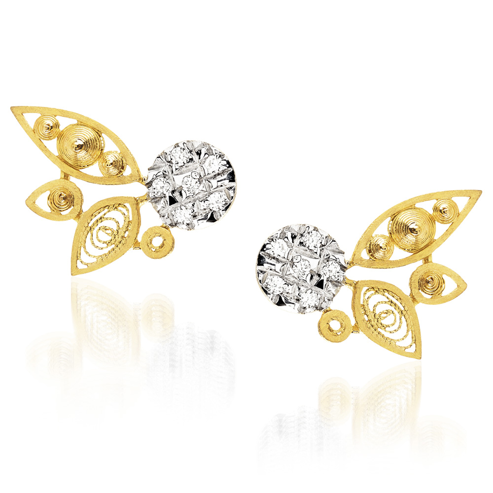 Luisa Rosas Ohrschmuck HBR5504<br>800er Gelbgold, Diamanten
