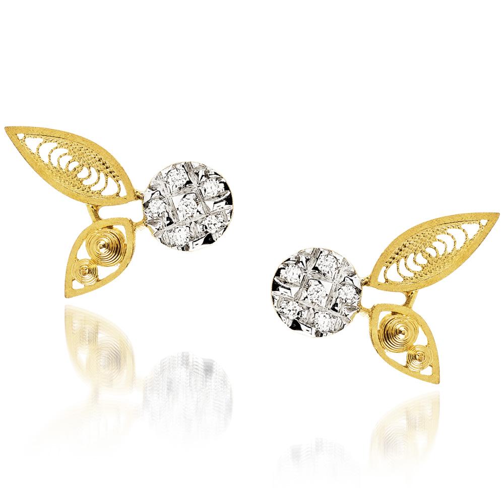 Luisa Rosas Ohrschmuck HBR5505<br>800er Gelbgold, Diamanten