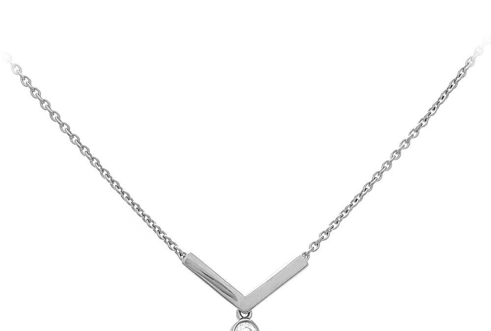 Viva Juwelen Halskette 6023345ZWWeißgold mit Brillant