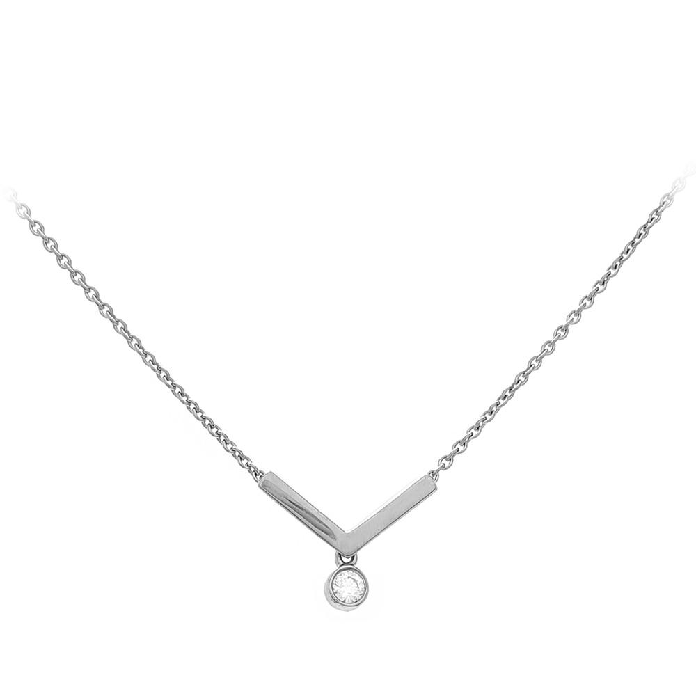 Viva Juwelen Halskette 6023345ZW<br>Weißgold mit Brillant