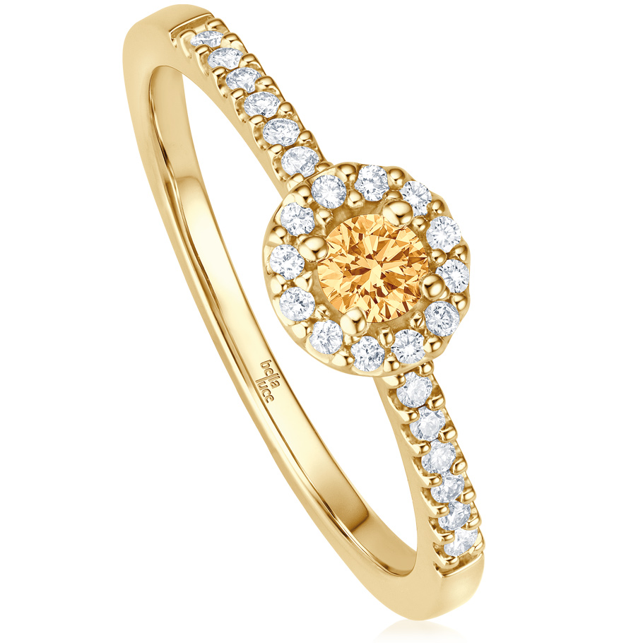 bellaluce Ring EH003767<br>Gelbgold mit Citrin, Brillanten
