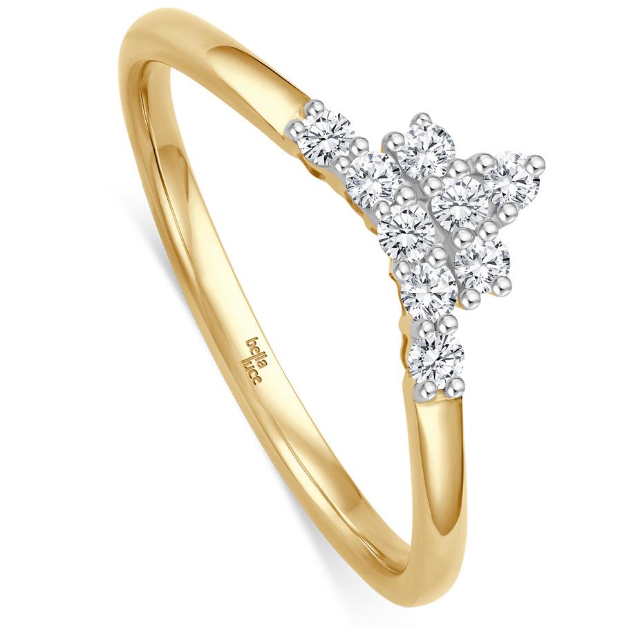 bellaluce Ring EH005369<br>Gelbgold mit Brillanten