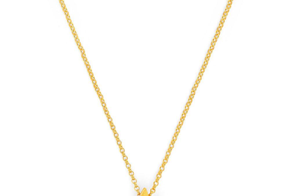Bernd Wolf Halskette 87622156Silber 24ct goldplattiert, Zirkonia