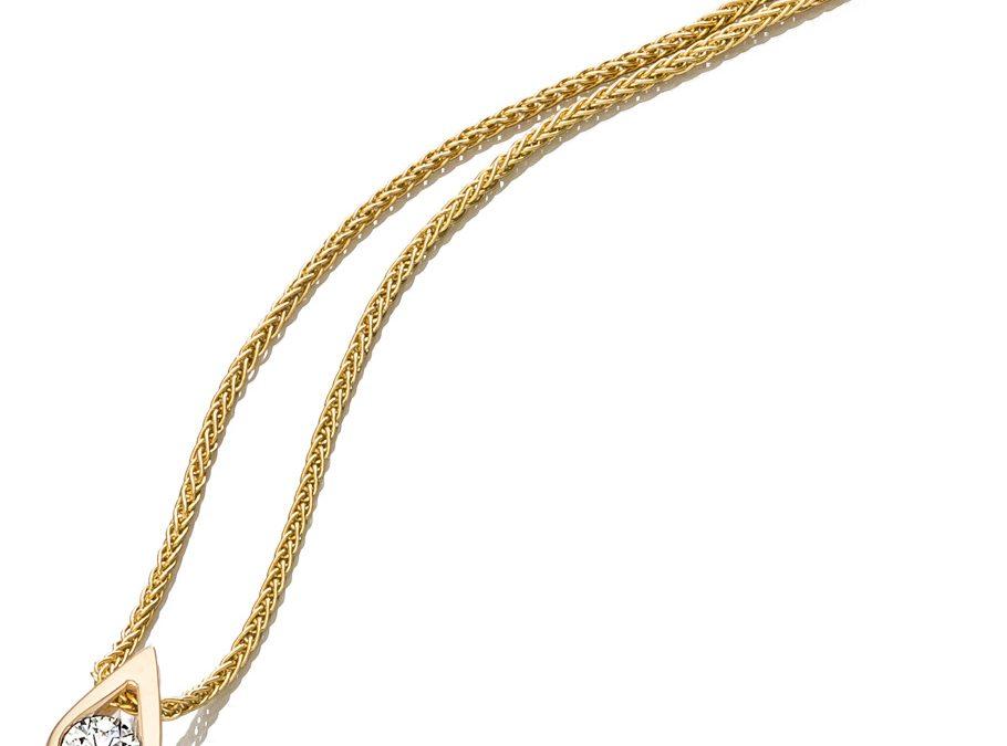 bellaluce Halskette EH003267Gelbgold mit Brillant