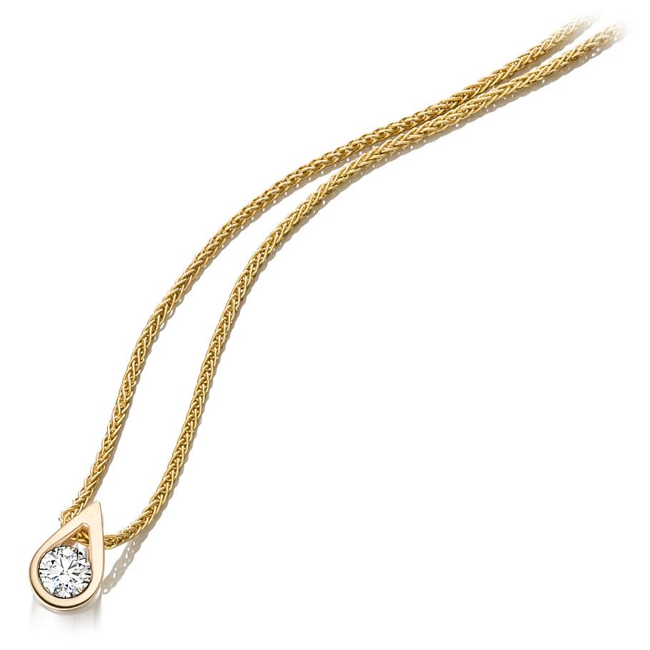 bellaluce Halskette EH003267<br>Gelbgold mit Brillant
