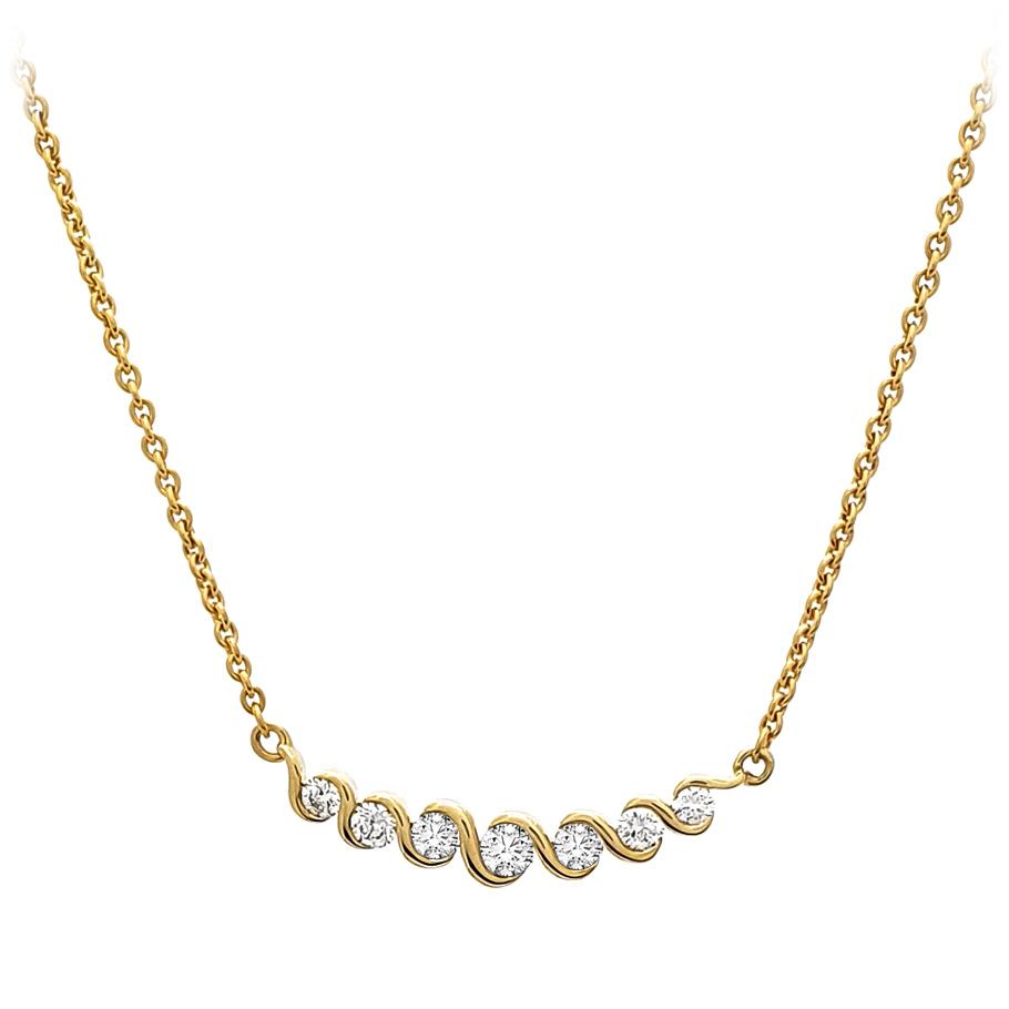 Mio Fallegro Halskette 110244131183480<br>Gelbgold mit 7 Brillanten