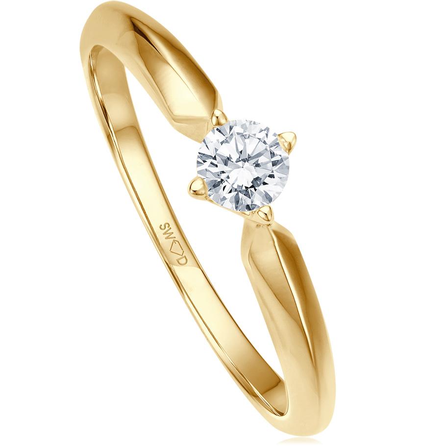 bellaluce Ring EH002253<br>Gelbgold mit Brillant