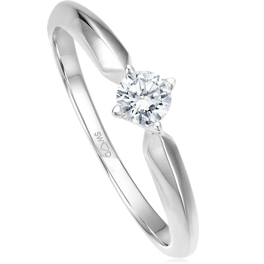 bellaluce Ring EH002253_WG<br>Weissgold mit Brillant
