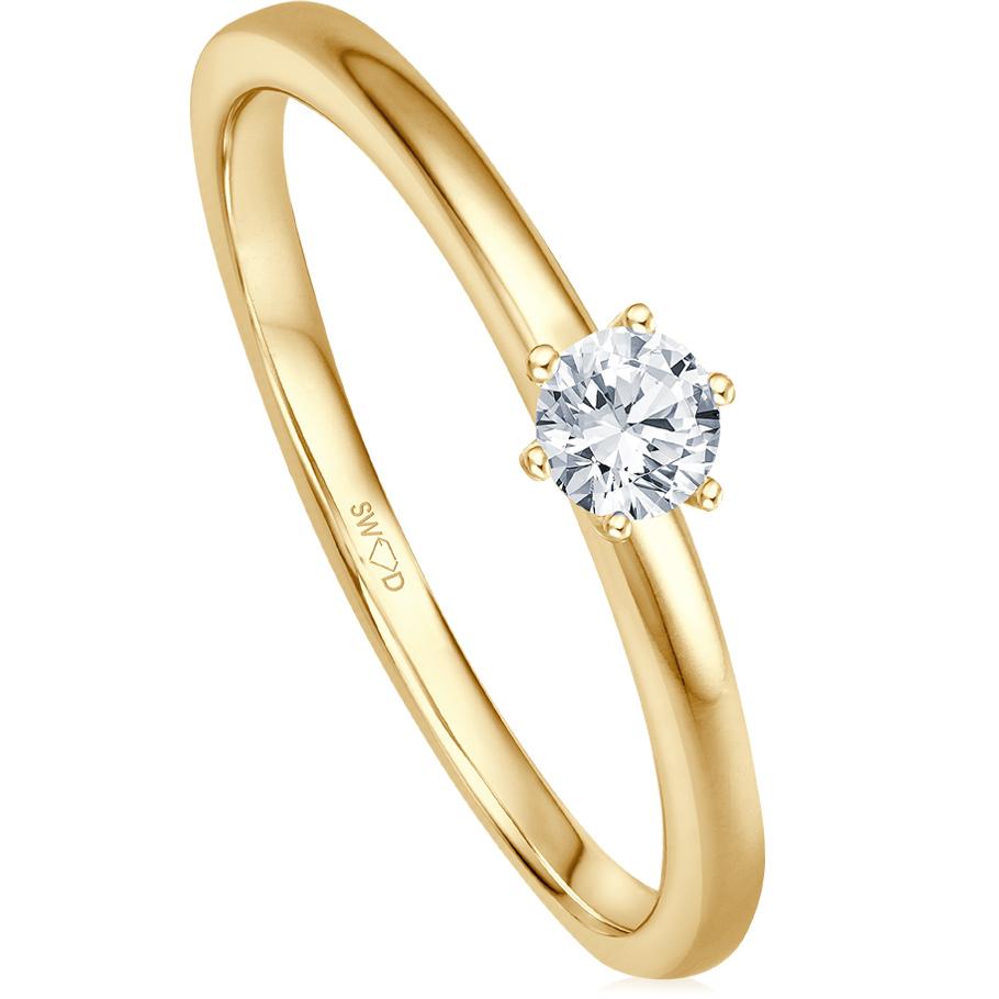 bellaluce Ring EH005125<br>Gelbgold mit Brillant