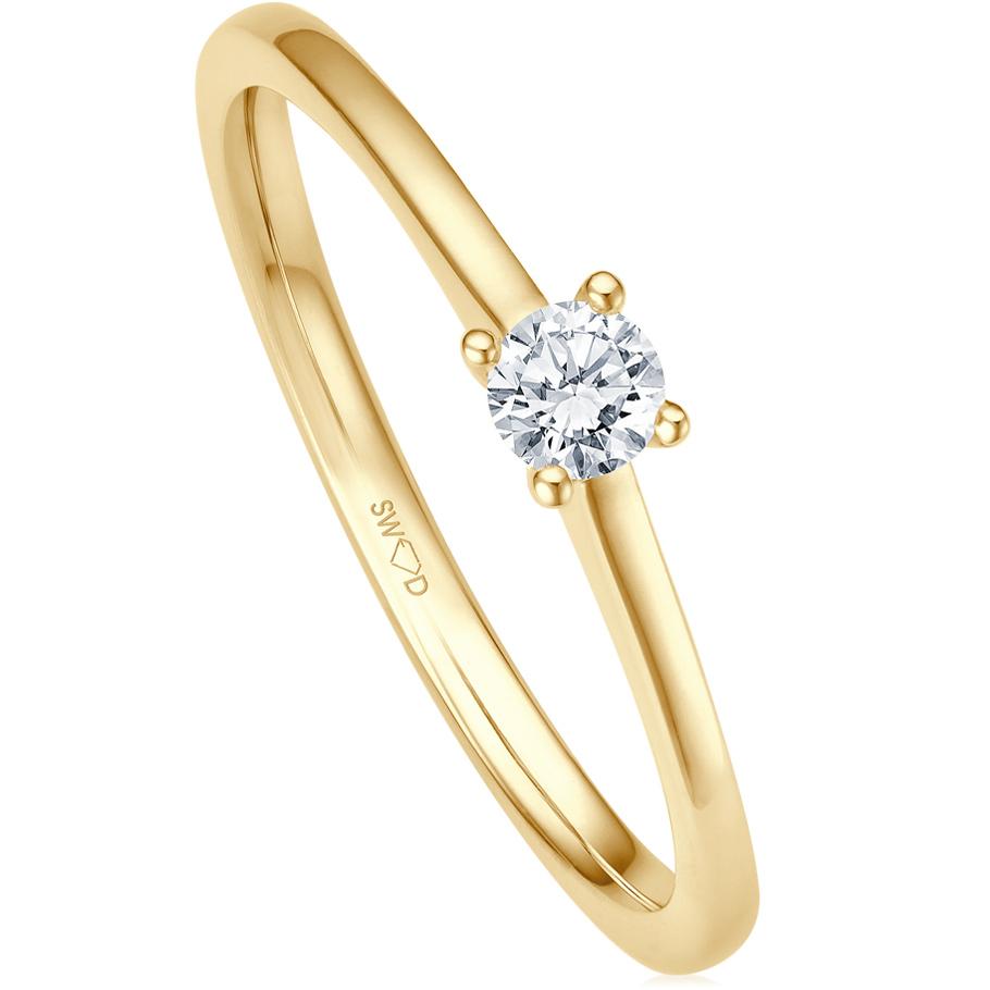 bellaluce Ring EH005535<br>Gelbgold mit 1 Brillant
