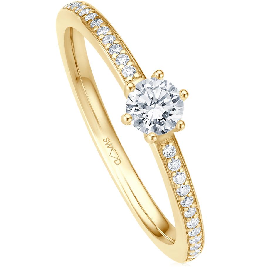 bellaluce Ring EH005579<br>Gelbgold mit Brillanten