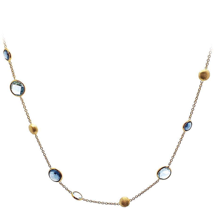 Eugen Rühle Halskette 372099971<br>Gelbgold mit 6 Topas