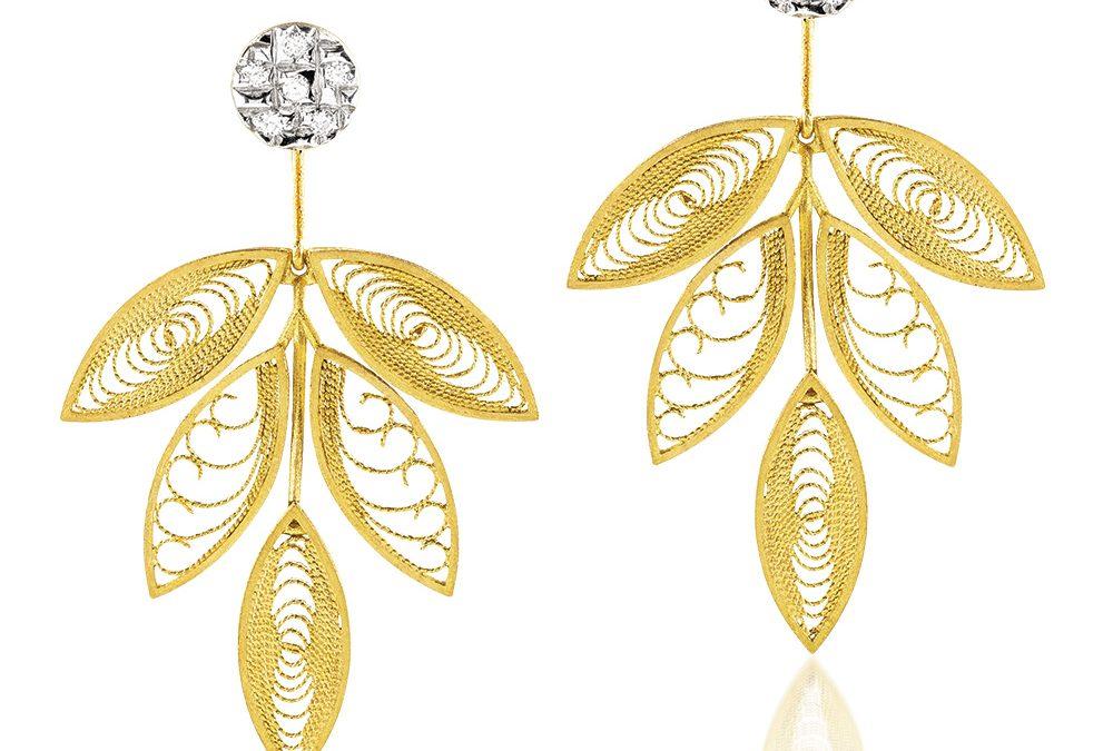 Luisa Rosas Ohrschmuck HBR5501EP800er Gelbgold mit Diamanten