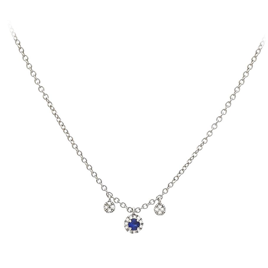 Mio Fallegro Halskette 711181127<br>Weißgold mit 19 Diamanten, 1 Safir