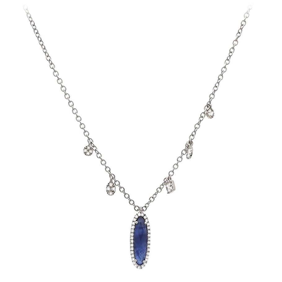 Mio Fallegro Halskette 711181128<br>Weissgold mit 53 Diamanten, 1 Safir