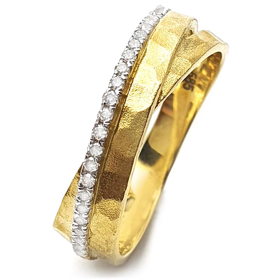 Mio Fallegro Ring 645181891<br>Gelbgold mit 28 Brillanten