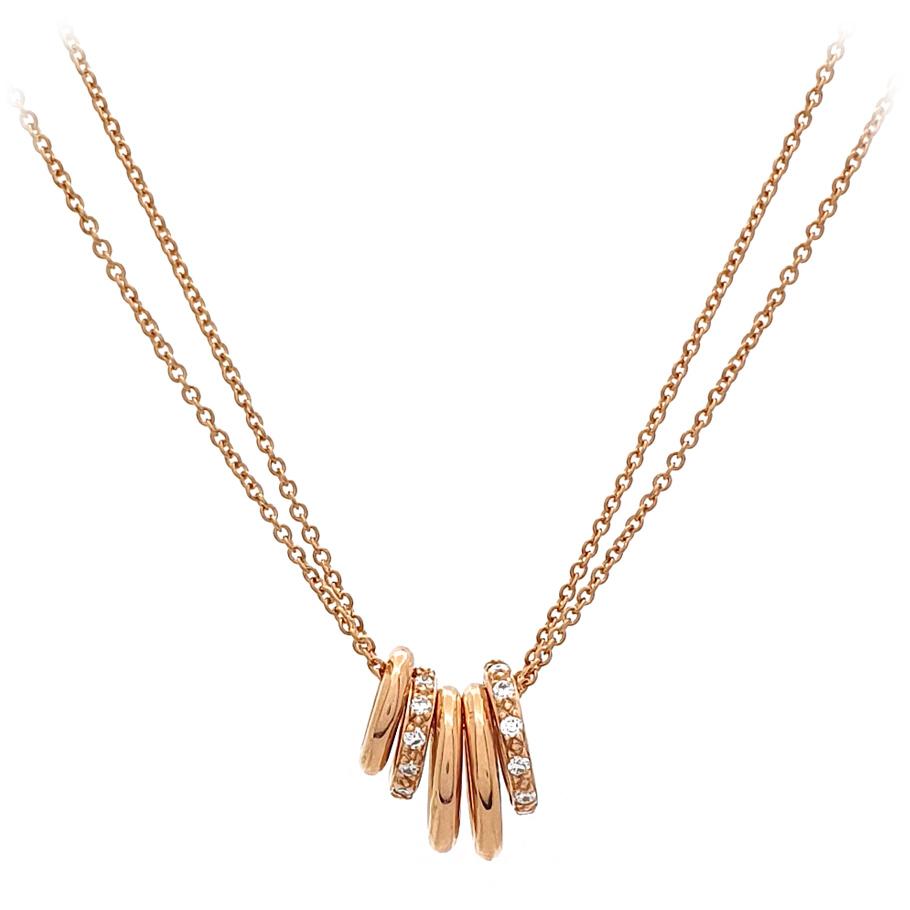noor Halskette 15532000R5<br>Rotgold mit 24 Brillanten
