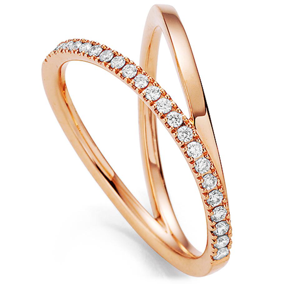 noor Ring 15438005R7<br>Rotgold mit Brillanten