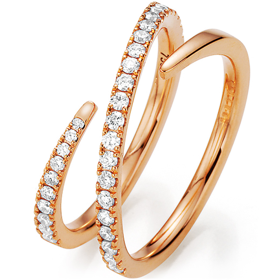 noor Ring 15441000R7<br>Rotgold mit Brillanten