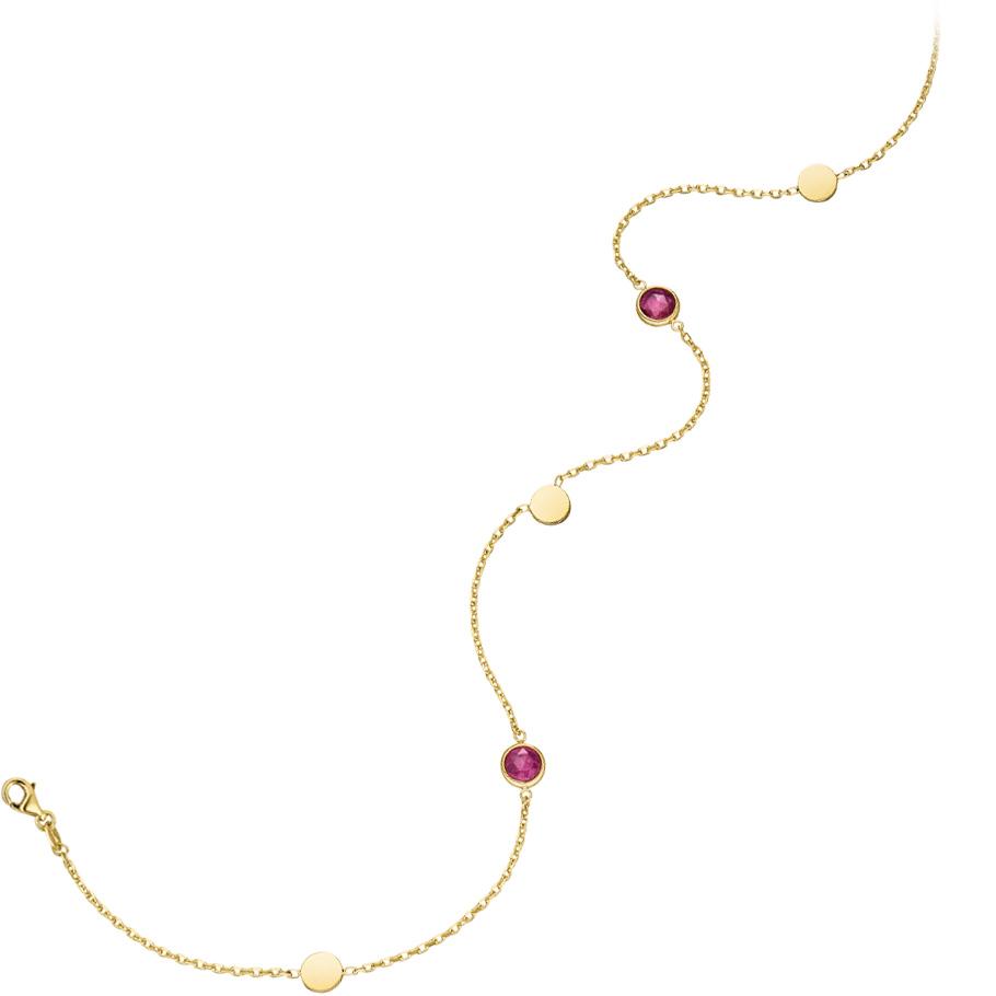 Mio Fallegro Armschmuck mf2104<br>Gelbgold mit rosa Turmalin
